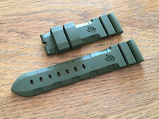 OFFICINE PANERAI OEM 22mm GREEN RUBBER STRAP FOR TANG BUCKLE