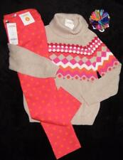 NEW Gymboree COLOR HAPPY Fair Isle Sweater Twill Polka Dot Pant size 5 6 Hair