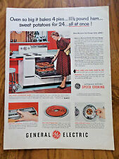 1953 GE General Electric Electric Range Ad   Super-Speed Cooking