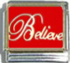 BELIEVE RELIGIOUS Enamel Italian Charm 9mm Link - 1 x RE103 Single Bracelet Link