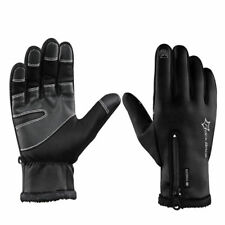 RockBros Cycling Fleece Thermal Windproof Full Finger Gloves Black S091-1 Size M
