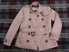 BURBERRY BRIT Womens Quilted Double-Breasted Jacket, Size S/P