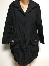 ISCHIKO by OSKA size UK 12 - 14 Black Long Coat Asymmetric Jacket