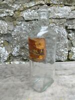 Vintage Half Pint Clear Glass Bottle - Harry Smith Chemist Pendleton Manchester