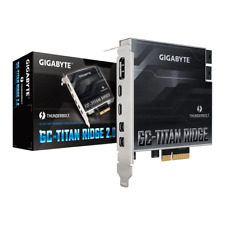 More details for gigabyte titan ridge 2.0 aic, thunderbolt3 pcie 3.0 (x4), 2x type-c, displayport