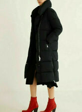 MANGO Long Water Resistant Puffer Quilted Insulated Coat Oversize Black S M L