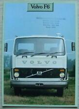 VOLVO F6 TRUCK Commercial Vehicles Sales Brochure Sept 1979 #RSP 66227