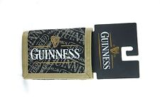 Men's Guiness Brewery Canvas Trifold Durable Black Gold Wallet