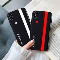 Cute Love Heart Lover Couple Case iPhone 11 Pro Max XR XS 7 8 Plus You Me Black