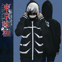 Anime Tokyo Ghoul Kaneki Ken Hoodies Cosplay Costume Zipper Hooded Jacket Coat
