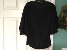 Women's LANGUAGE Black Blouse Top Size Small (CON8)