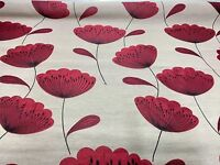SAMUEL SIMPSON FLORAL RED JACQUARD SUPER LUXURIOUS FABRIC 1.1 METRES!!