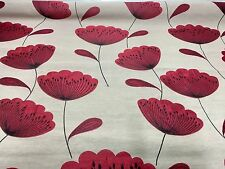 SAMUEL SIMPSON FLORAL RED JACQUARD SUPER LUXURIOUS FABRIC 4.6 METRES!!