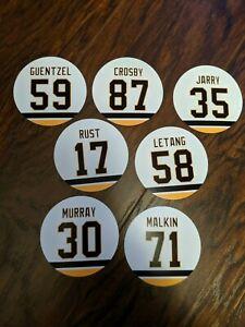 Pittsburgh Penguins Fridge magnets - Crosby, Guentzel, Jarry, Malkin, Letang