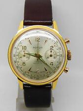 """chronographe  """"NOVUS"""" plaqué or mouvement Venus 188 ,vintage chrono"""