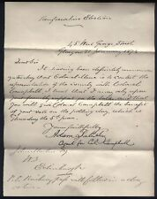 1874 Glasgow RENFREWSHIRE ELECTIONS, printed notice re Colonel Mure & Campbell