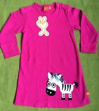 Scandi pink Zebra dress BNWT By Lipfish l/slv 3 yrs (euro 98)