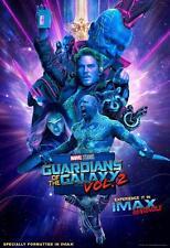 GUARDIANS OF THE GALAXY VOL 2 13x19 Original Promo Movie Poster MINT Imax Marvel