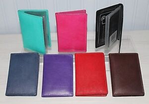 Leather RFID Blocking Credit Card Holder Wallet * Various Colours