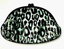 MAC L.Goldwyn Blue Plastic Cheetah Mini Clutch Makeup Bag