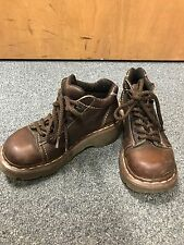 Womens DR. MARTENS,Doc Martins Brown Ankle Hiker Boots Oxfords Gibson Size 4