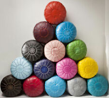Moroccan Pouf in many colors,Moroccan Leather Poufs,Handmade,Ottoman,Pouffe,