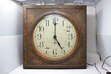 Antique E. Howard & Sons Co  Boston Slave Clock Oak Body w Hands