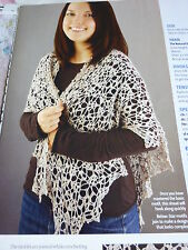 Crochet Pattern To Make  Stunning Star Motif Shawl In Lace Weight Silk Yarn