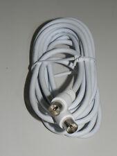 Cavo antenna TV coassiale maschio/maschio schermato 3 mt  bianco