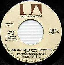 IKE & TINA TURNER 45 Doo Wah Ditty Got To Get Ta b/w Up in Heah NEAR-MINT