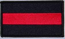 FALLEN FIREMAN PATCH - FIREFIGHTER - BLACK & RED - FD FIRE DEPARTMENT RESPECT