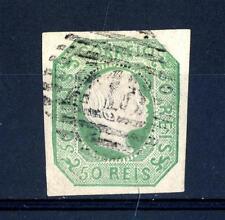 PORTUGAL - PORTOGALLO - 1855 - Effigie di Re Pietro V - 50 r. verde giallo