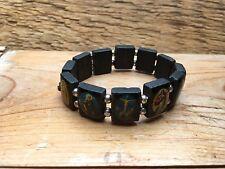 Kitsch  Religious Icons Bracelet/Wooden Souvenir/Worship/Retro/Madonna Etc