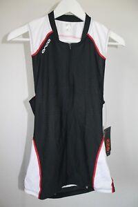 Orca 226 Mens Triathlon Tri Tank schwarz/rot/weiß Gr. M