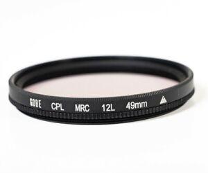 Gobe 49mm Circular Polarising Camera Protection Filter 12L