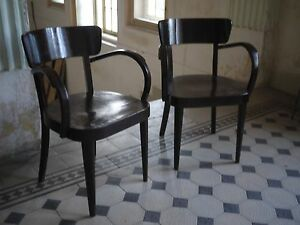 Set of Two Fischel thonet Dining Armchairs 1930's