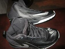 Nike BOYS SIZE 5 Team Hustle D7 (GS) Black White Silver Athletic Shoes, NEW