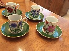 SCHMIDT Coffee DEMITASSE Cup and Saucer ~ Set of four (4) Vintage, EUC.