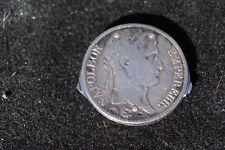 VINTAGE ELOI PERNET FRANCE 1811 5 FRANC SILVER COIN POCKET CIGAR CUTTER KNIFE