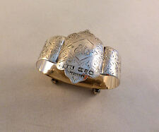 Fancy Footed English Sterling Birmingham 1899 Footed Napkin Ring(s)-Mono A