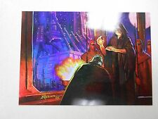 1996 Star Wars Finest PARALLEL gold refractor card #19 Emperor Palpatine! NM/MN!