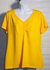 Fashion Bug Yellow Casual Top Sz XL NWT