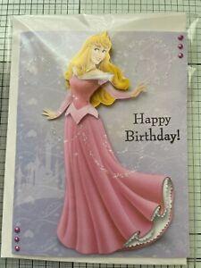 BIRTHDAY CARD, HANDMADE 3D HAPPY DISNEY'S SLEEPING BEAUTY [2 CHOICES AVAILABLE]
