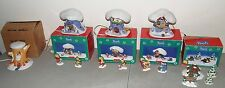 WINNIE THE POOHS CHRISTMAS VILLAGE Lot (Piglet, Tigger, & Pooh House) Accessorys