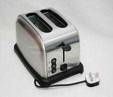 900W Plata Ancho De Ranura Tostadora de rebanada de dos tostadas descongelar función de recalentamiento rápido rápido