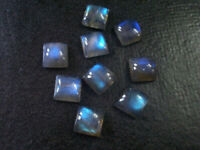 SALE!! Natural Lot Labradorite 3X3 mm To 10X10 mm SQUARE Cabochon Loose Gemstone