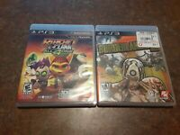 Lot of 2 PS3 Games Ratchet & Clank: All 4 One Borderlands 2 Sony PlayStation