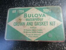 Gasket Kit #22A (see description) Antique Bulova Waterproof Crown And