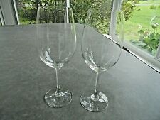 """Set of 2 Nachtmann Crystal Tall Wine Glasses 10"""" Tall Signed"""