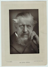 RARE Orig Photo - English Poet Journalist Writer - Sir Edwin Arnold  1890